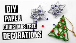 DIY Paper Christmas Tree Decorations