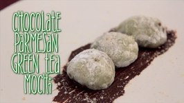 Chocolate Parmesan Green Tea Mochi