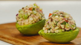 Tuna-Stuffed Avocados with Corn Salsa