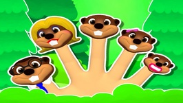 Finger Family Beavers 3D - Popular Nursery Rhyme - Learn Family Names