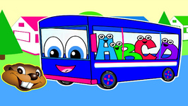 The Wheels On The Bus - Blue Bus Version - Popular Children's Nursery Song - Little Baby Rhyme
