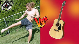 Muay Thai vs Guitar - Low Roundhouse Kick