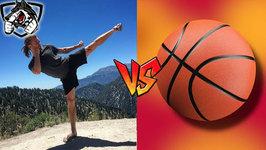 Muay Thai vs Basketball - Hopping Side Kick
