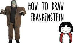 how to draw frankenstein for hallowe - Halloween Pictures For Kids To Draw