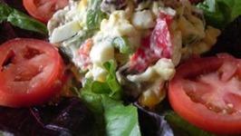 Egg, Sausage Pepper Salad