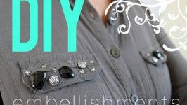 DIY Embellished Top Zara Inspired - Fall Fashion Trend