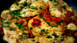 Chicken Breasts in Sun Dried Tomato and White Wine Sauce