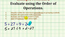 Example 2:  Evaluate An Expression Using The Order of Operation