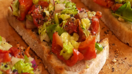 How to make Tomato and Avocado Balsamic Bruschetta