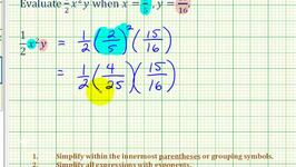 Ex: Evaluate a Variable Expression with Exponents and Fractions