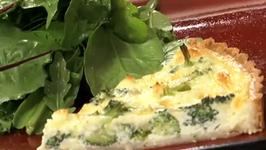 Delicious Broccoli and Goat Cheese Quiche