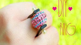 DIY: Colorful Crystal Ball Ring