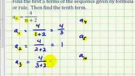 Ex 2: Finding Terms in a Sequence Given the Sequence Formula in Fraction Form