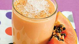 Papaya Melon Smoothie by Tarla Dalal