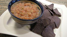 Salsa al Fresco w/Baked Blue Corn Chips