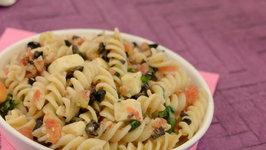 Pasta Salad with Basil Vinaigrette by Tarla Dalal