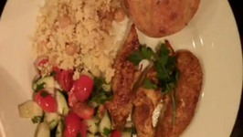Chicken, Couscous and Salad Dinner