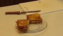 Elvis Presley Favorite Grilled Peanut Butter-Banana Sandwich