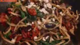 Mediterranean Udon Noodles