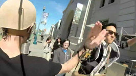 Awesome 'High-Five' Camera Captures Strangers' Smiles