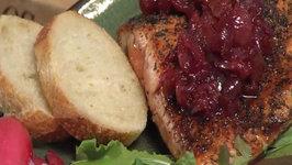 Cherry Salsa and Salmon with Cherry Sauce