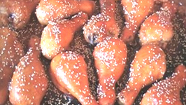 Oven Baked Apple Sesame Chicken Drumsticks