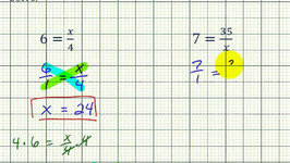 Ex: Solve a Proportion with One Side Not a Fraction