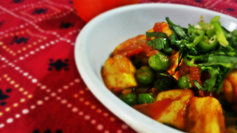 North Indian - Dry Matar Paneer