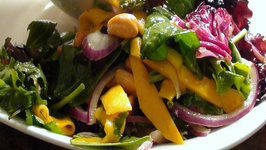 Asian Inspired Mango and Cashew Salad