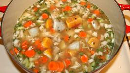 Sweet Potato Turkey Soup