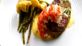 Filet Mignon and Lobster Tail with Bearnaise Sauce
