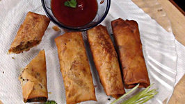 Crispy Vegetable Spring Rolls with Wrapper