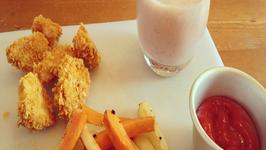 Cornflake Chicken Nugget Kids Happy Meal
