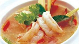 Spicy Soup Of Grilled Prawns
