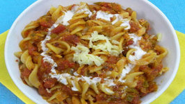 Pasta In Red Sauce by Tarla Dalal