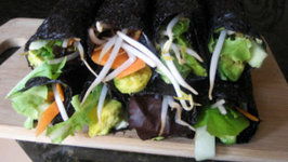 Fast and Easy Raw Nori Rolls