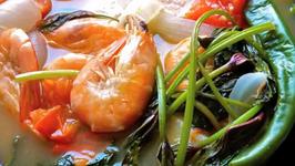 Sour Salmona and Shrimp Soup