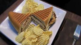 Elba's Chicken Cordon Bleu Panini Sandwich