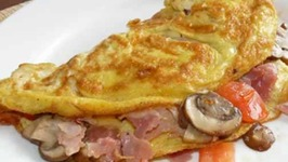 Ham Cheese and Tomato Omelet