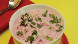 Beetroot Cucumber and Tomato Raita by Tarla Dalal