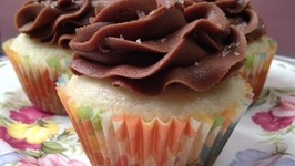 TBT Fluffy White Cupcakes With Chocolate Buttercream