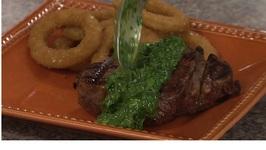 Rib Shack Red Filet Steak with Chimichurri Sauce