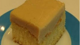 Betty's Salted Caramel Frosting for White Sheet Cake -- Valentine's Day!