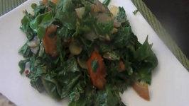 Russian Kale (Healthy Vegetarian Food) Spiced Russian Kale