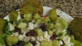 Croutons with Spinach and Vegetables Tortillas