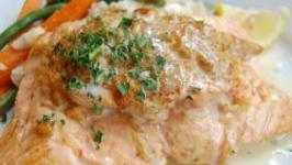Shrimp Stuffed Fish with Sage Butter Sauce for Thanskgiving