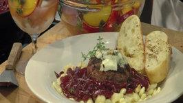 Gorgonzola Red Wine Lamb Burgers