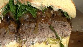 SmokingPit.com - Zesty Italian Onion Burgers Oak Wood Fire Grilled on the Scottsdale