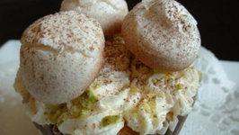 Making Cupcakes with Meringue Mushrooms