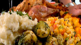 Roasted Cornish Game Hens with Cornbread Stuffing